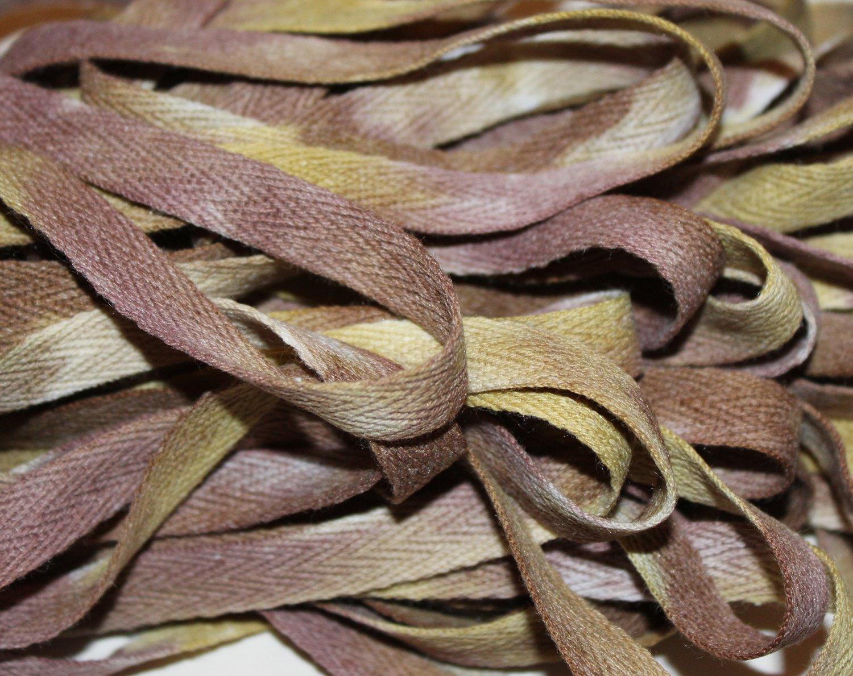 Lichen - Hand-dyed Cotton Twill Tape 3/8 wide