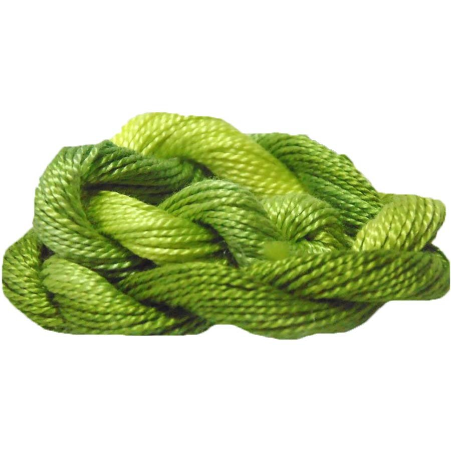 Limeade- Hand-dyed Perle Cotton Sz12   20yds
