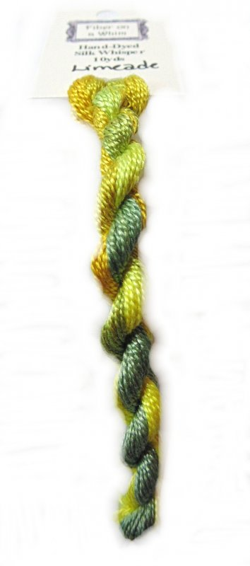 Limeade Whisper- 10yds Hand-Dyed Fine Silk Thread