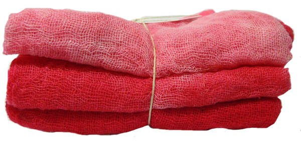 Lipstick 3pc Hand-Dyed Cheesecloth Gradation