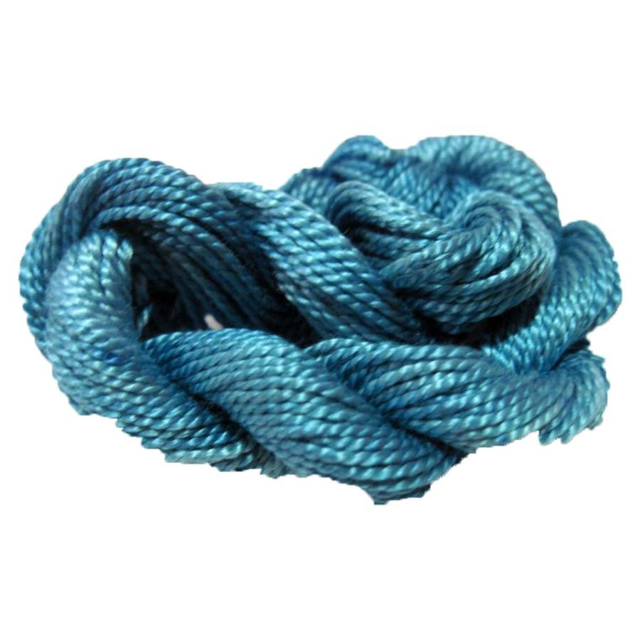 Lt Ocean Blue Hand-Dyed Perle Cotton Size 8
