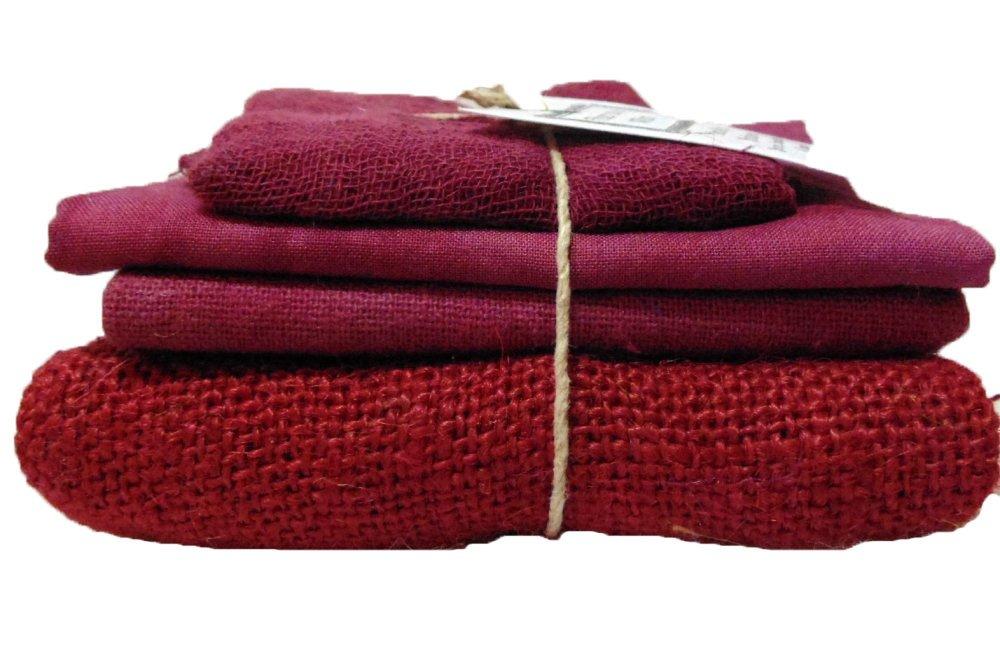 Merlot Bindle - Cheesecloth, Cotton, Osnaburg, & Burlap