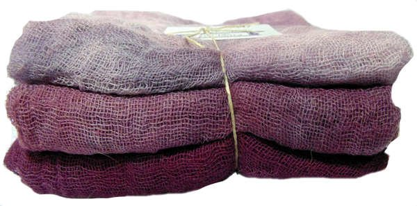 Merlot- 3pc Hand-Dyed Cheesecloth Gradation