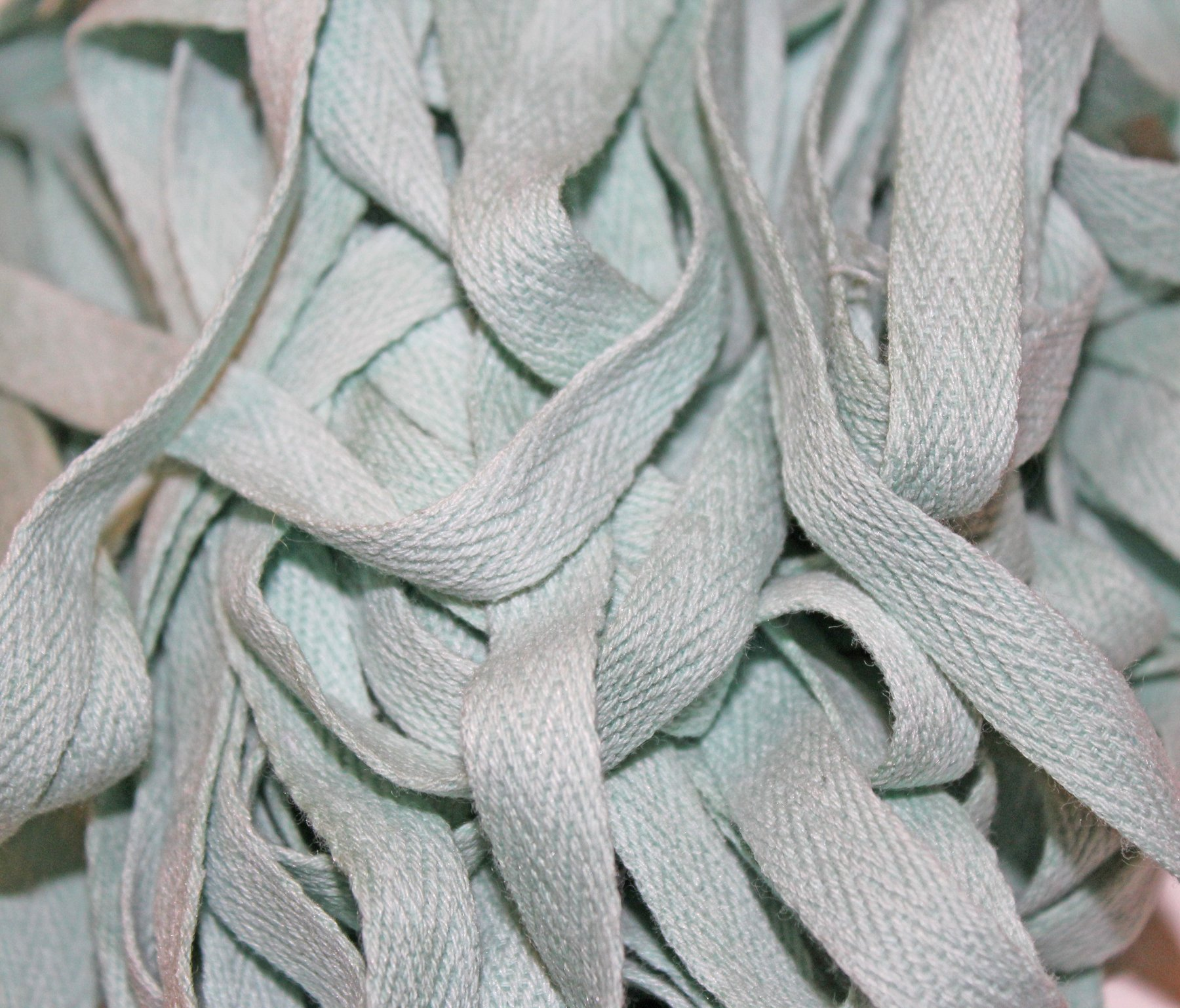 Mint - Hand-dyed Cotton Twill Tape