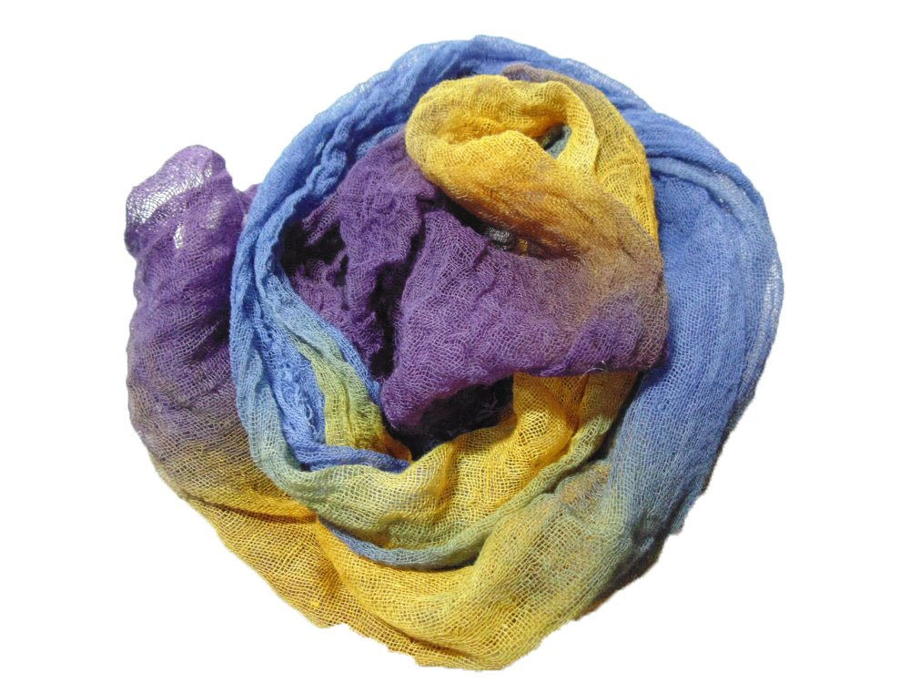 Morning Glory 1yd Hand-Dyed Cheesecloth
