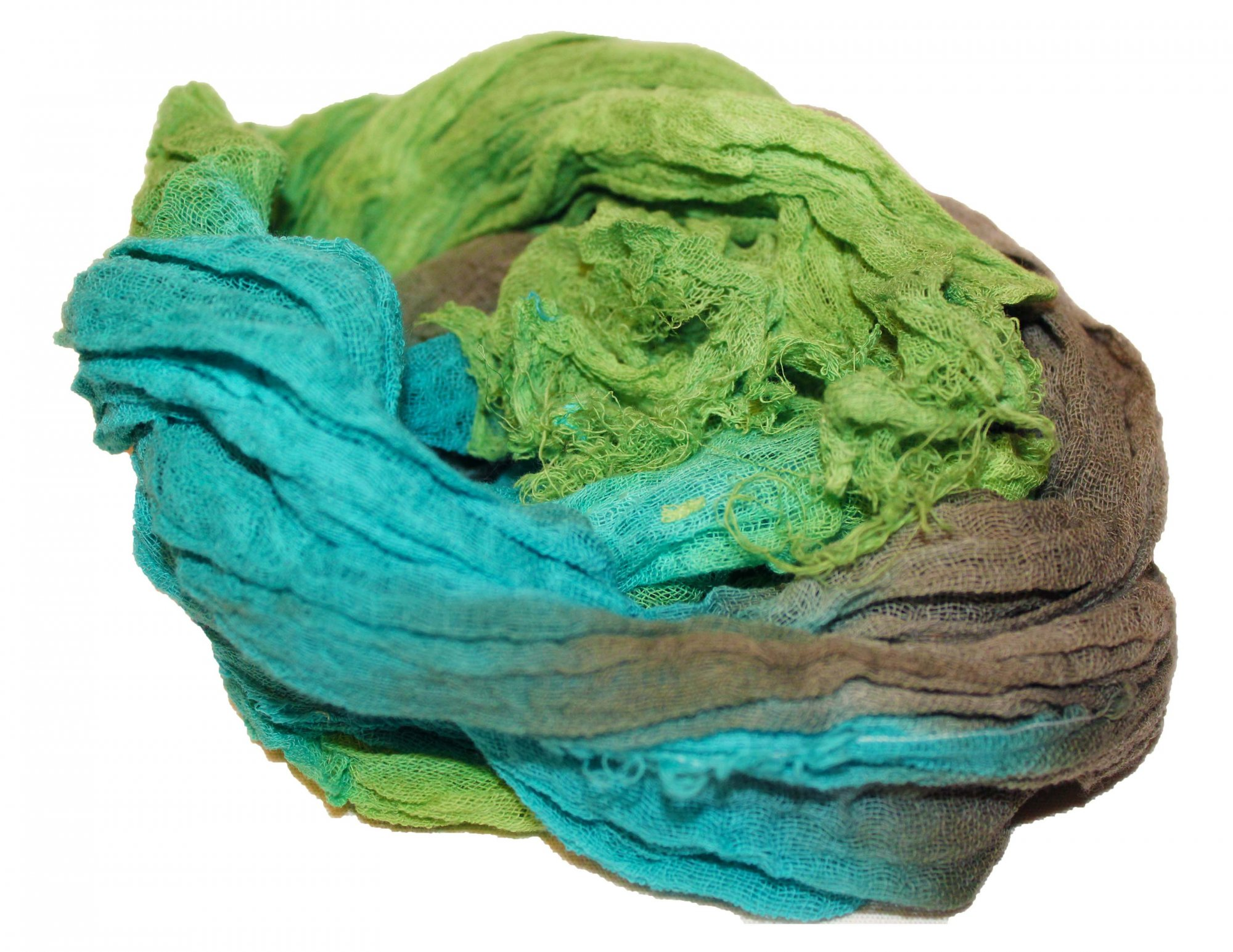 Moss 1yd Hand-Dyed Cheesecloth
