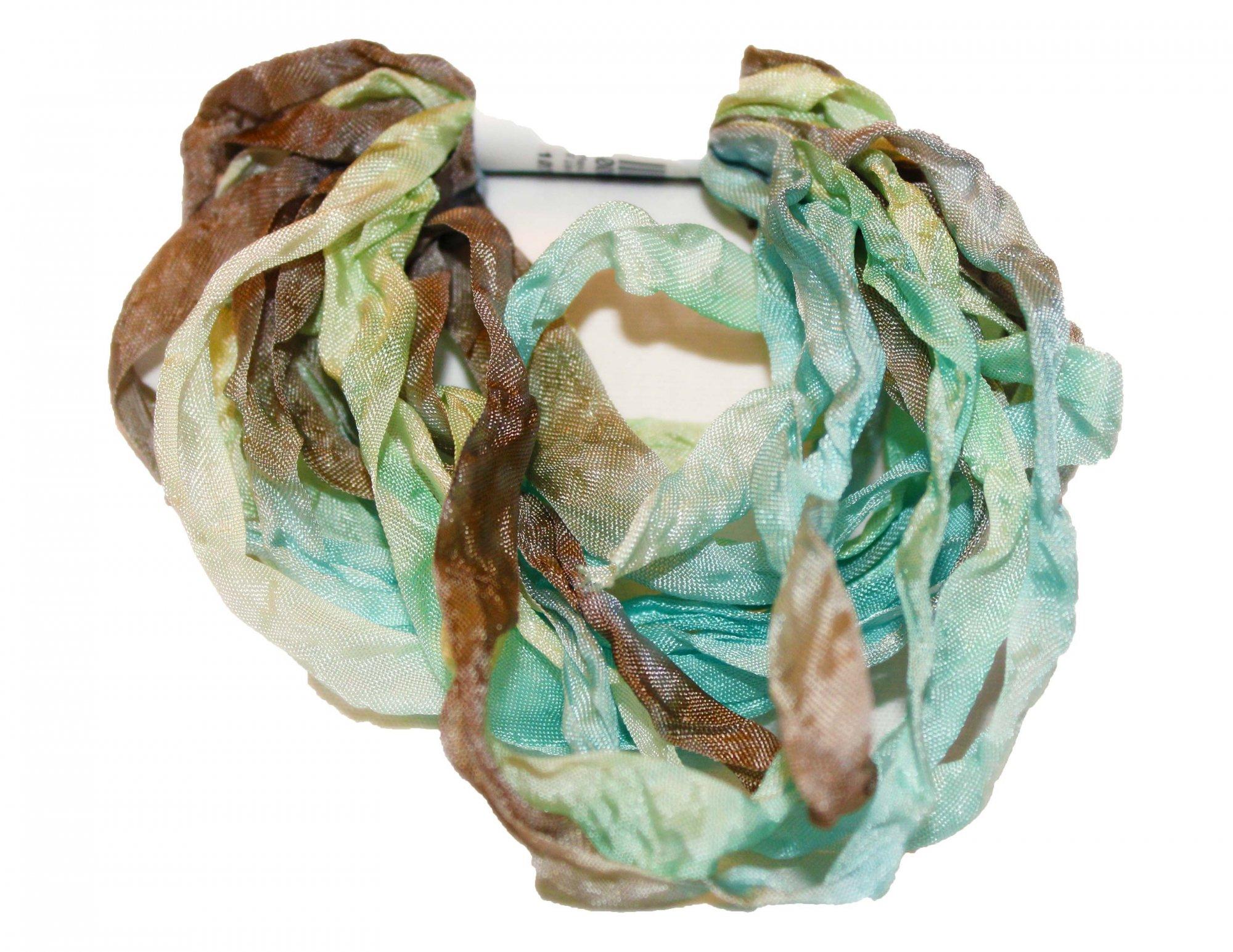 Moss Hand-Dyed Rayon Seam Binding 5yds