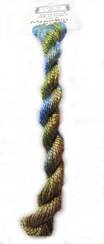 Mountain Vista Whisper- 10yds Hand-Dyed Fine Silk Thread