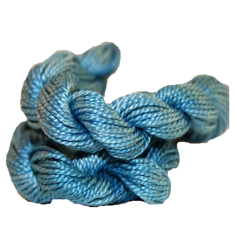 Ocean Blue- Solid Hand-Dyed Perle Cotton Size 5
