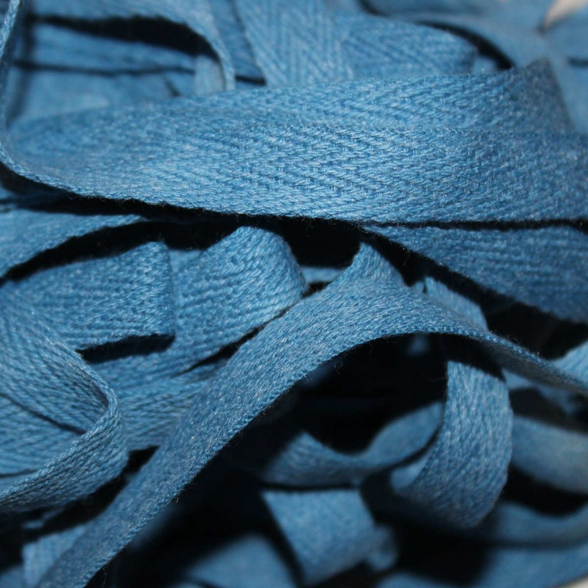 Ocean Blue - Hand-dyed Cotton Twill Tape