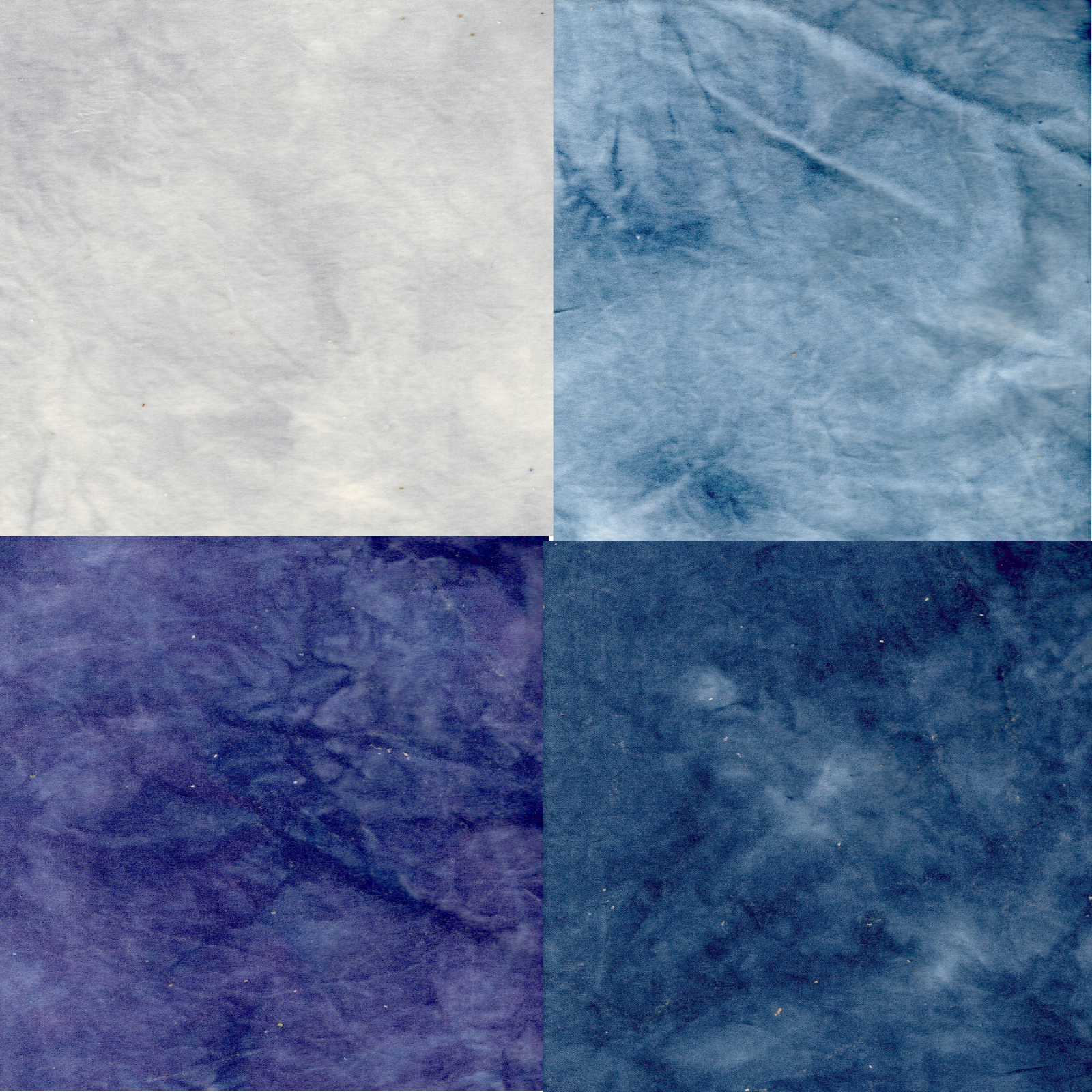 Ocean Waves 4pc Hand-Dyed Cotton Velveteen