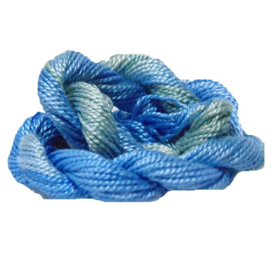 Ocean Waves- Hand-dyed Perle Cotton Sz12   20yds