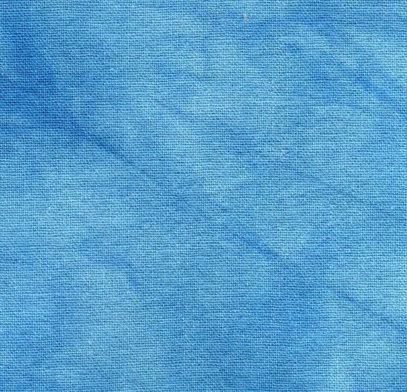 Lt Ocean Blue Hand-Dyed Osnaburg