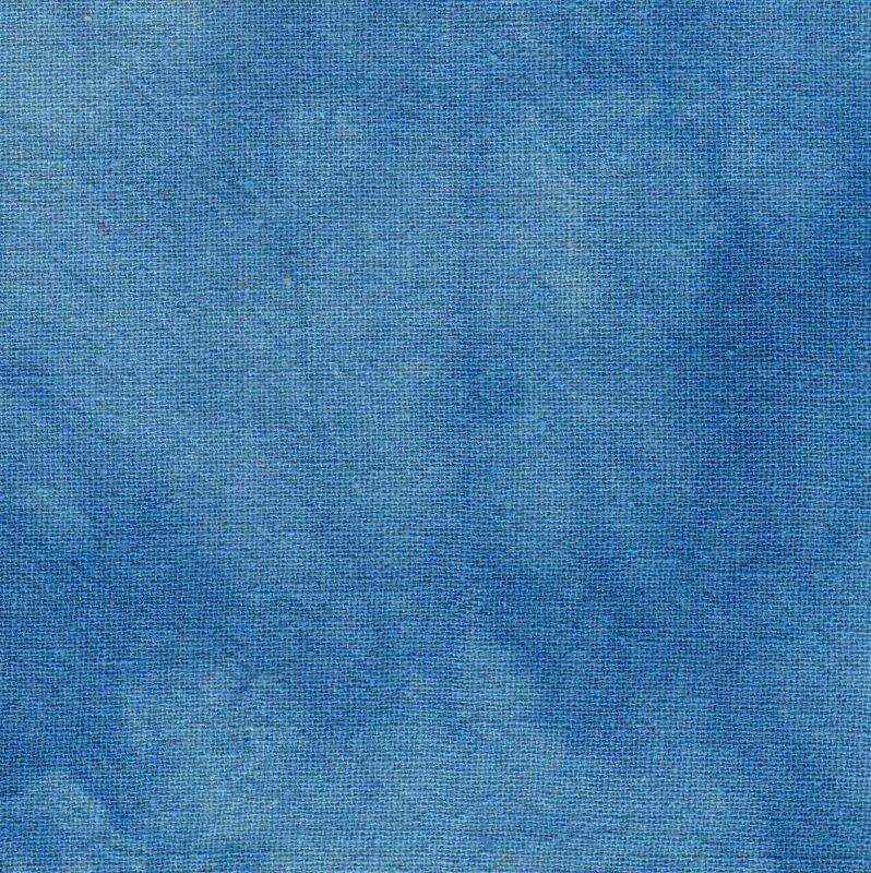 Ocean Blue Hand-Dyed Osnaburg