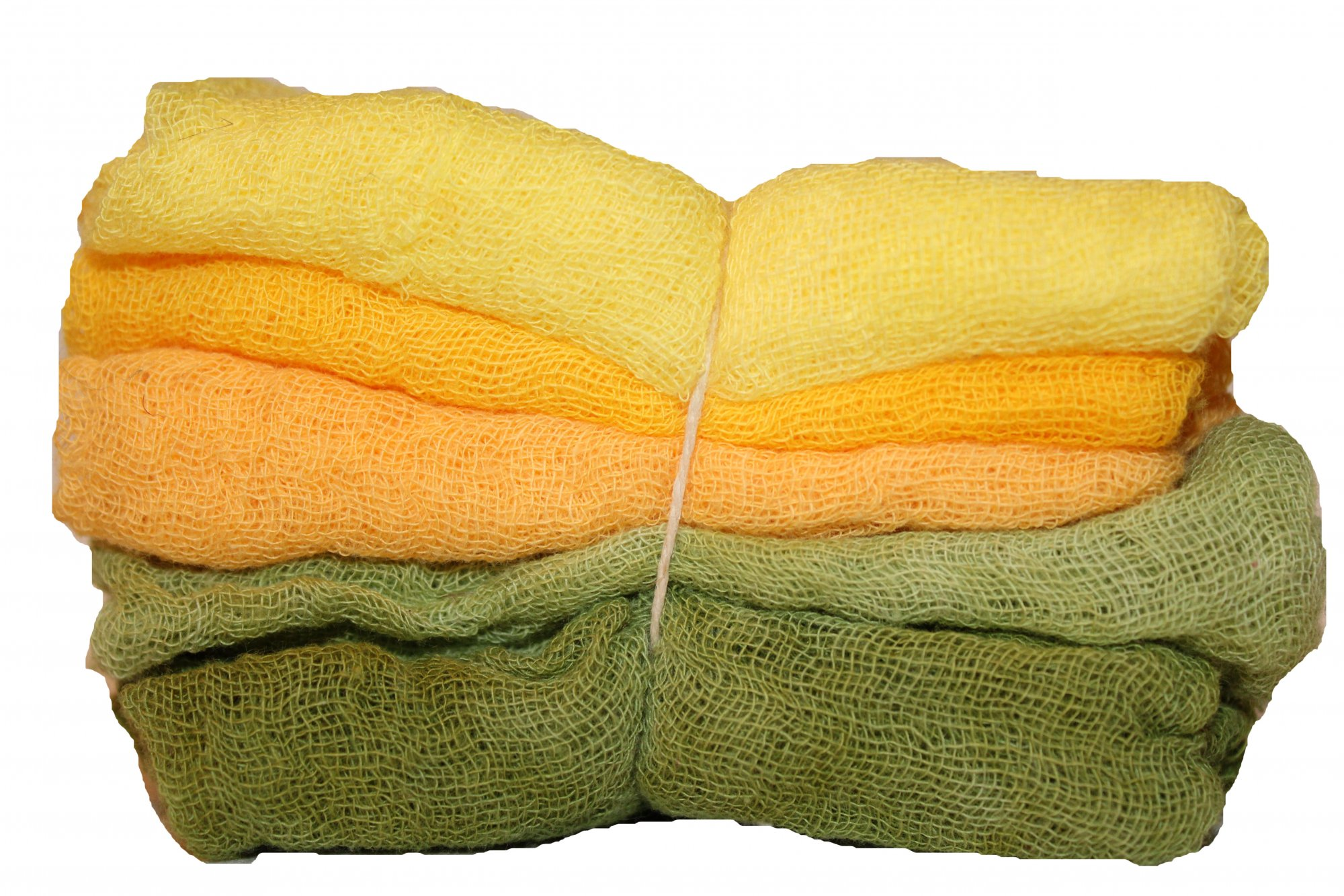 Marigolds 5pc Hand Dyed Cheesecloth Combo