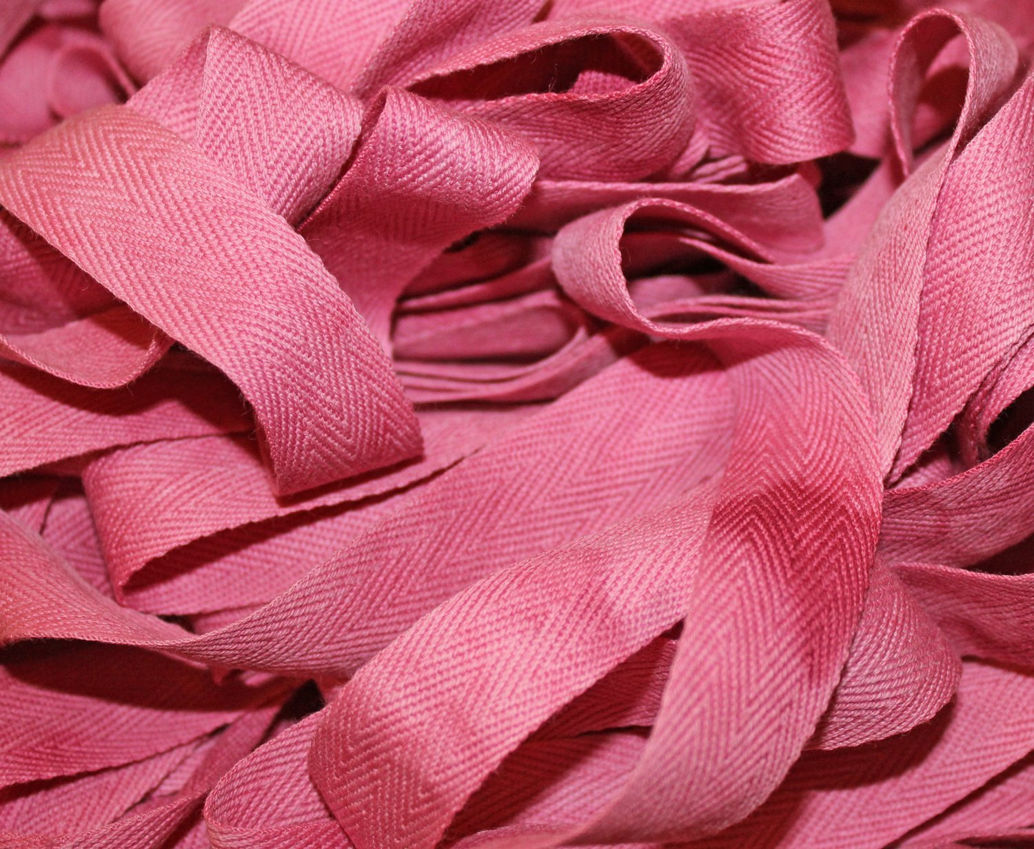 Peony - Hand-dyed Cotton Twill Tape