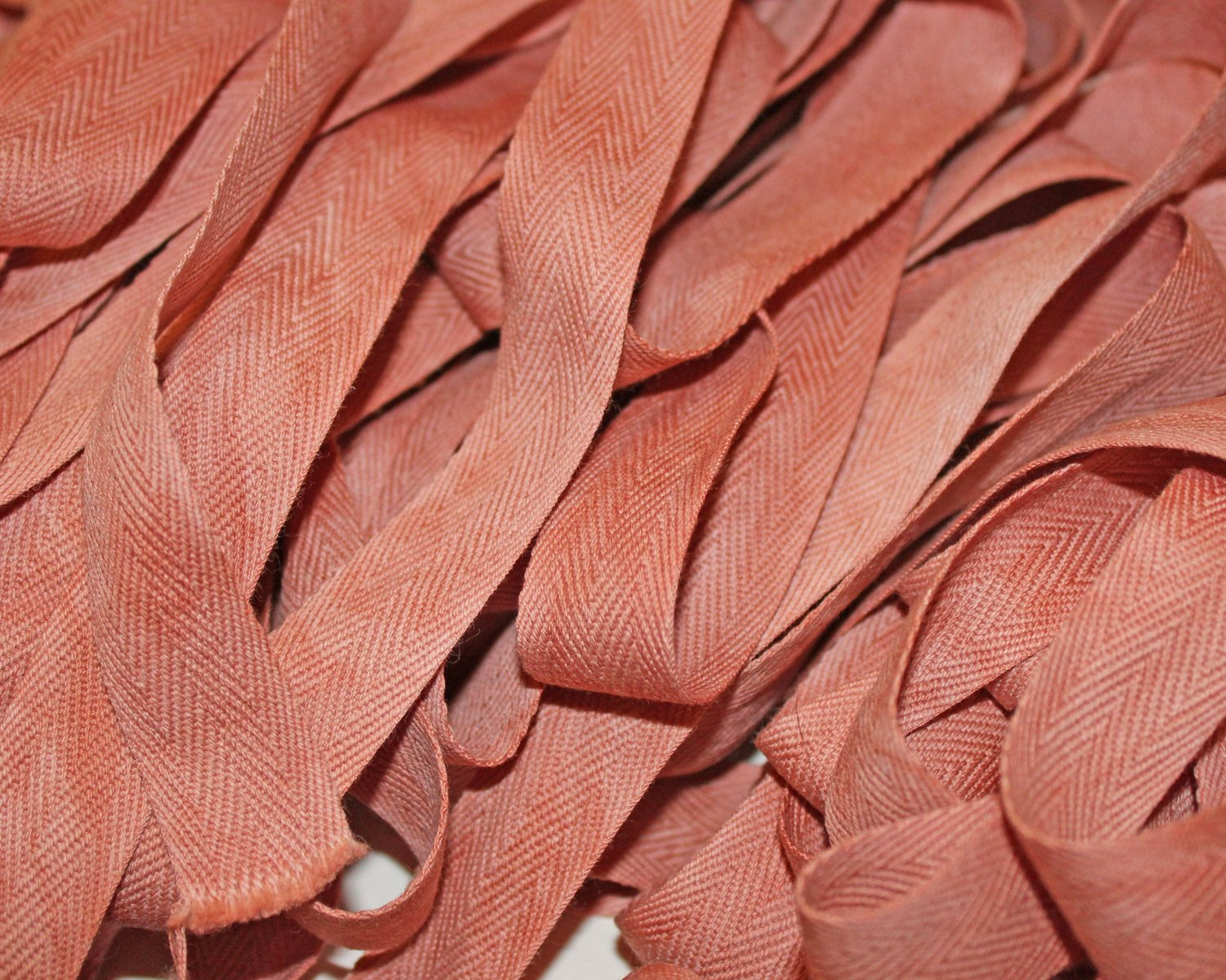 Persimmon - Hand-dyed Cotton Twill Tape