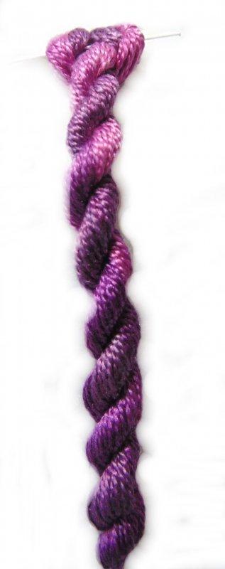 Purple Haze Whisper- 10yds Hand-Dyed Fine Silk Thread
