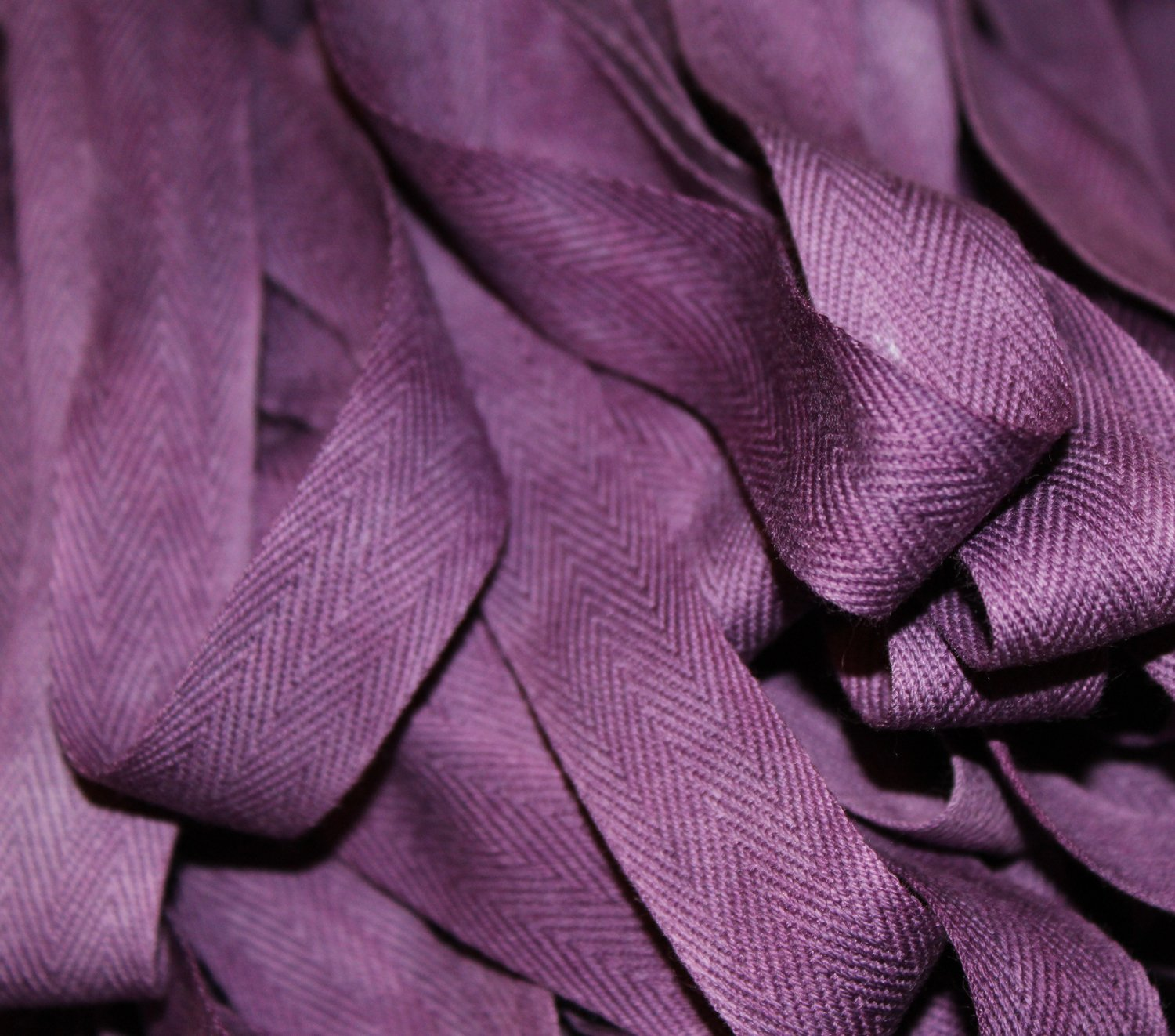 Plum - Hand-dyed Cotton Twill Tape