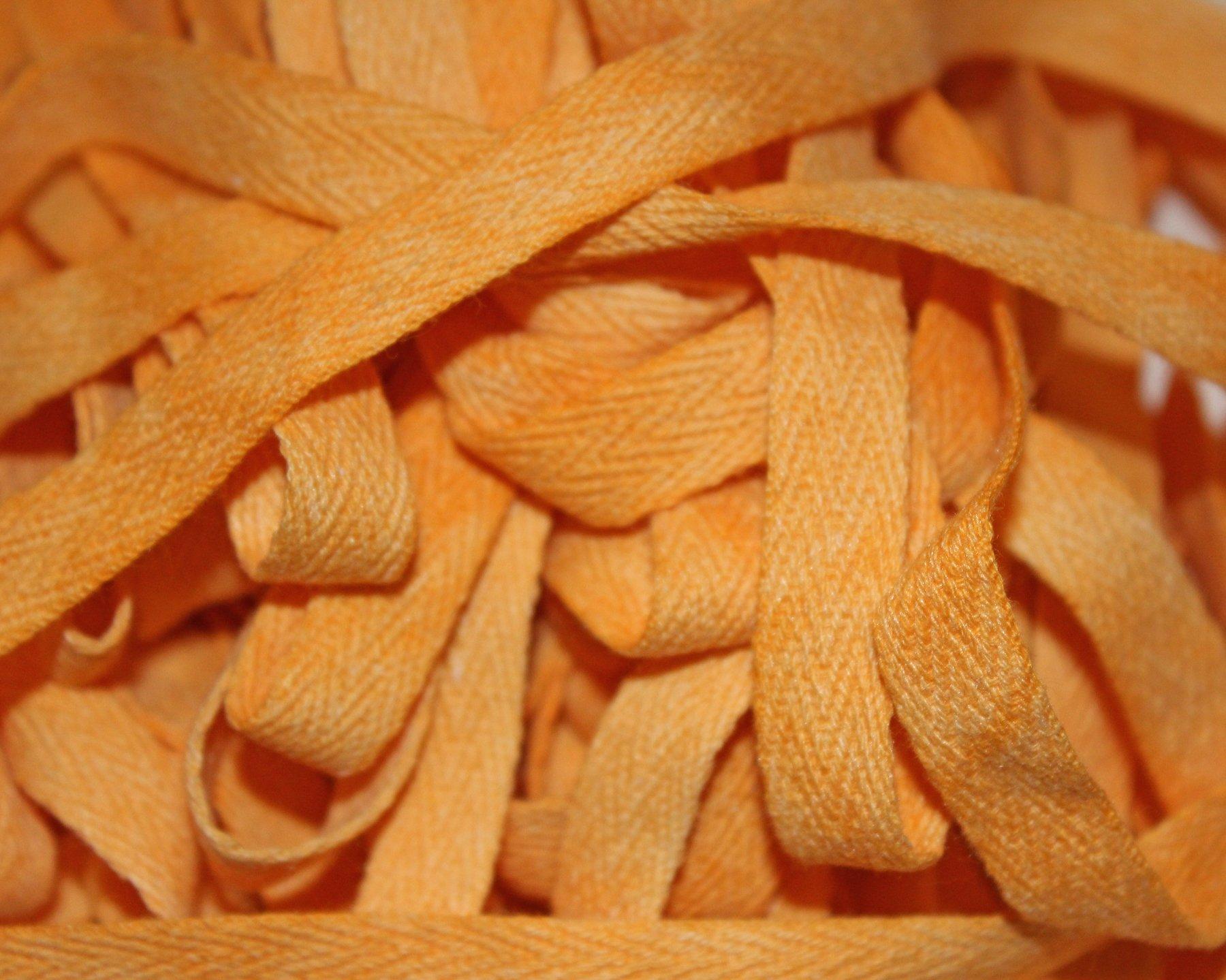 Pumpkin - Hand-dyed Cotton Twill Tape