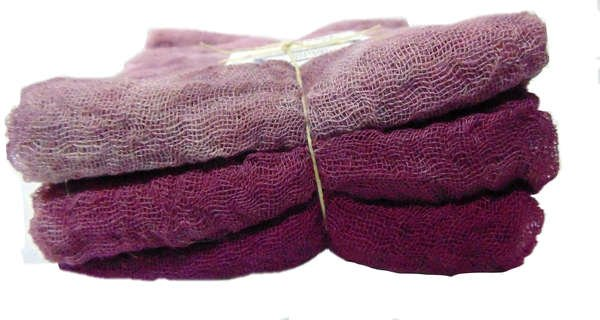 Raspberry 3pc Hand-Dyed Cheesecloth Gradation