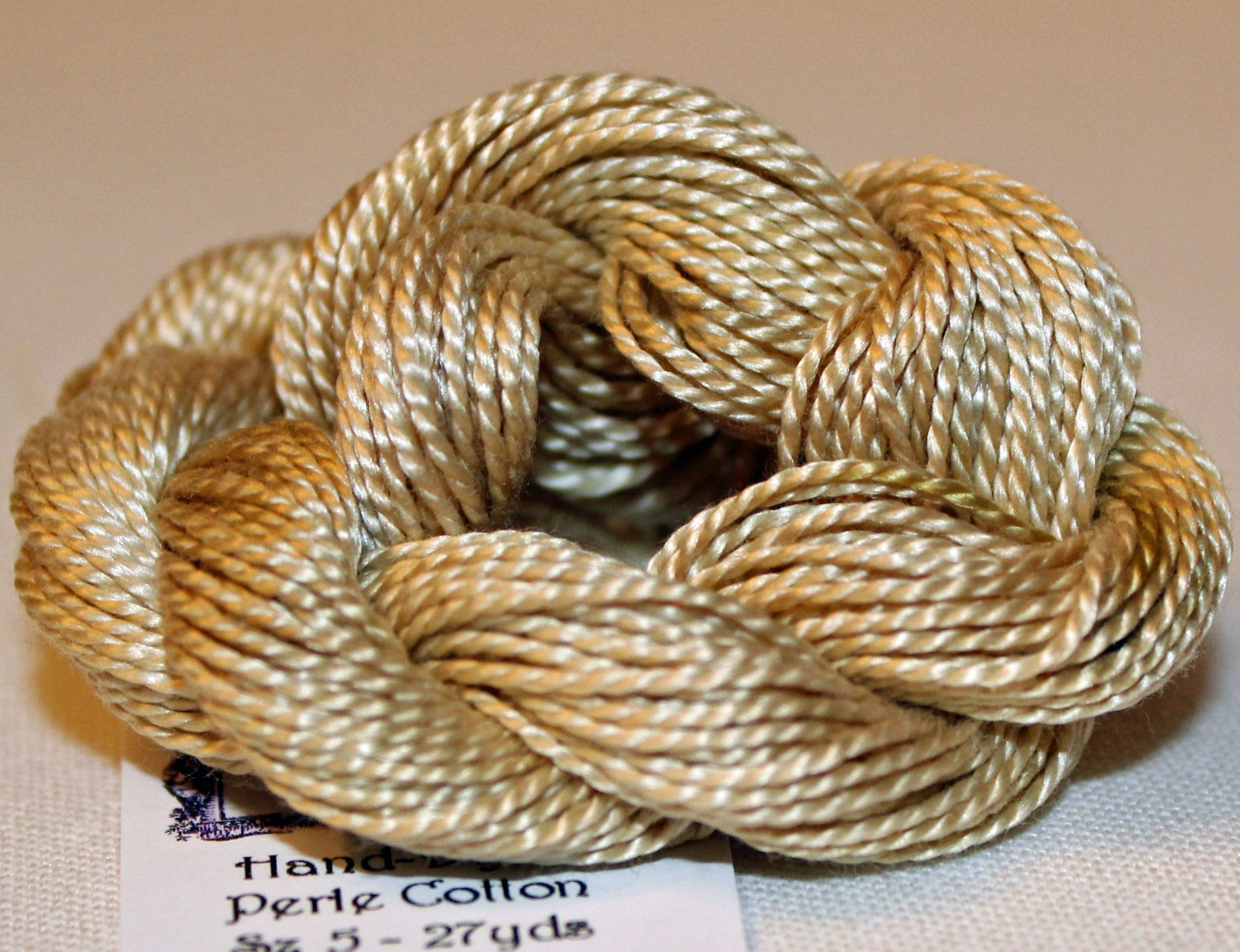 Sand- Solid Hand-Dyed Perle Cotton Size 5