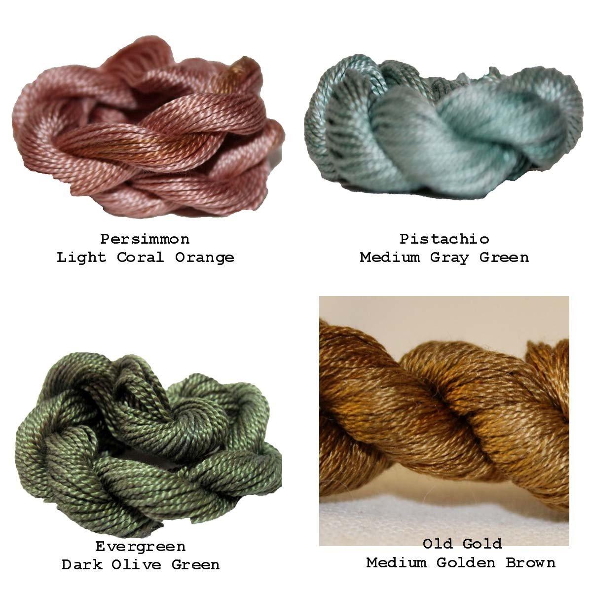 September Color Challenge -  4pc Perle Cotton Sz5 Pack