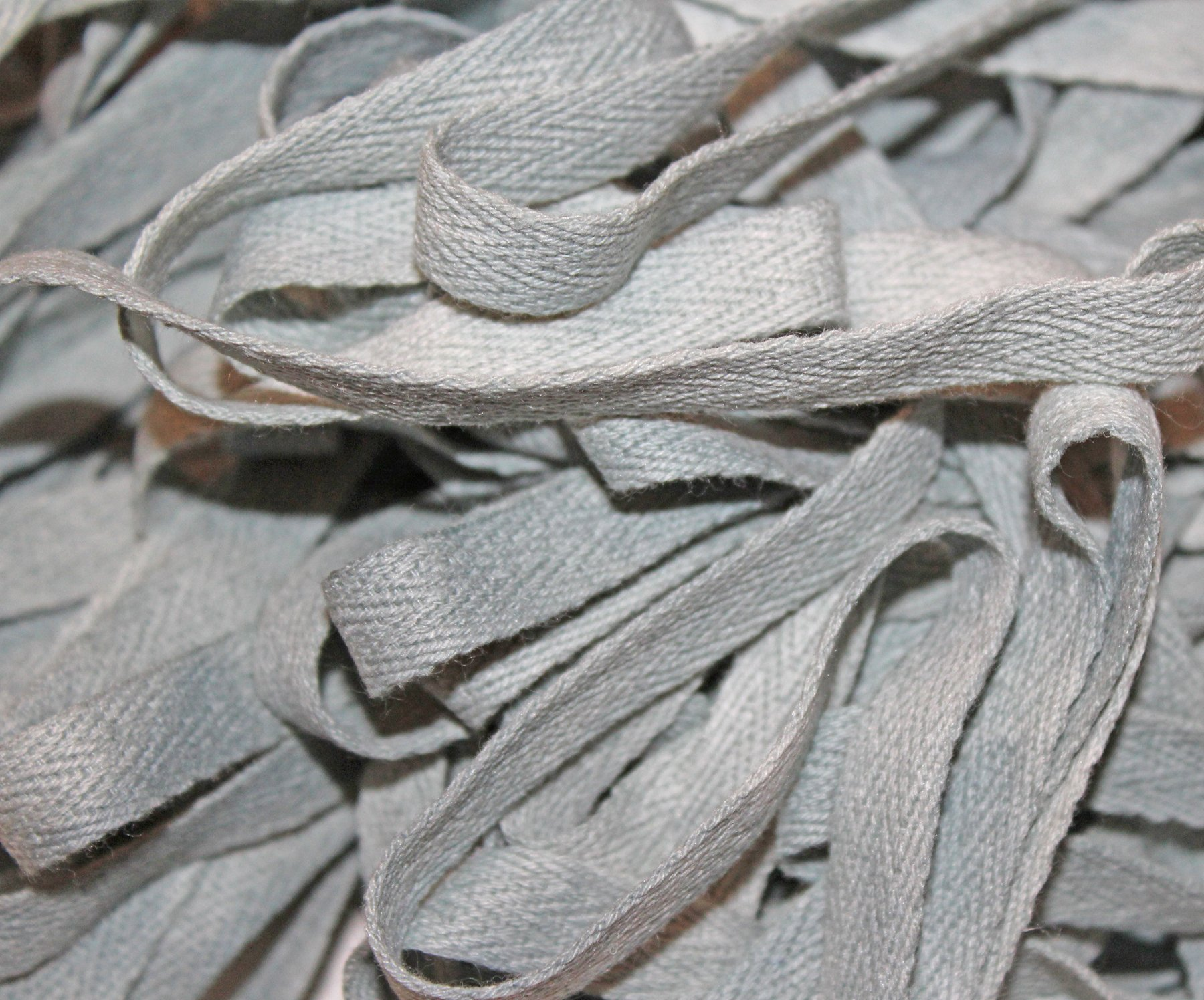 Silver Fox - Hand-dyed Cotton Twill Tape