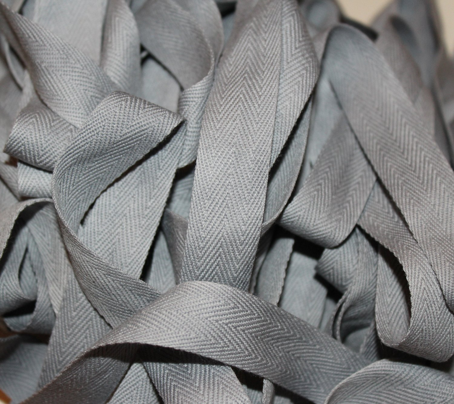 Slate - Hand-dyed Cotton Twill Tape