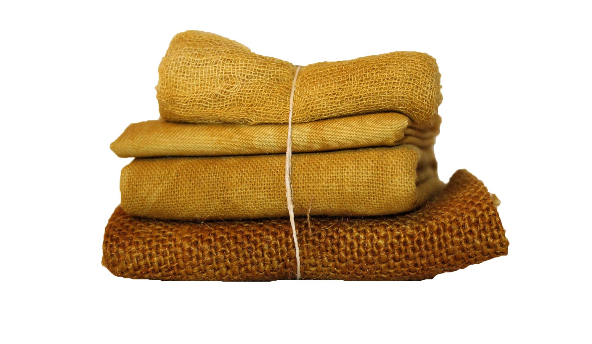Spicy Mustard Bindle - Cheesecloth, Cotton, Osnaburg, & Burlap
