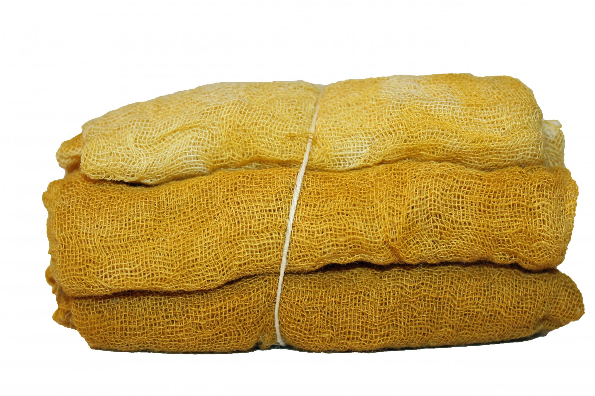 Spicy Mustard- 3pc Hand-Dyed Cheesecloth Gradation
