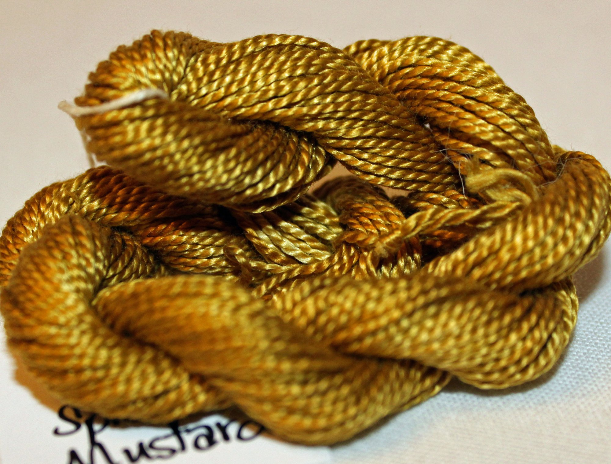 Spicy Mustard- Solid Hand-Dyed Perle Cotton Size 5