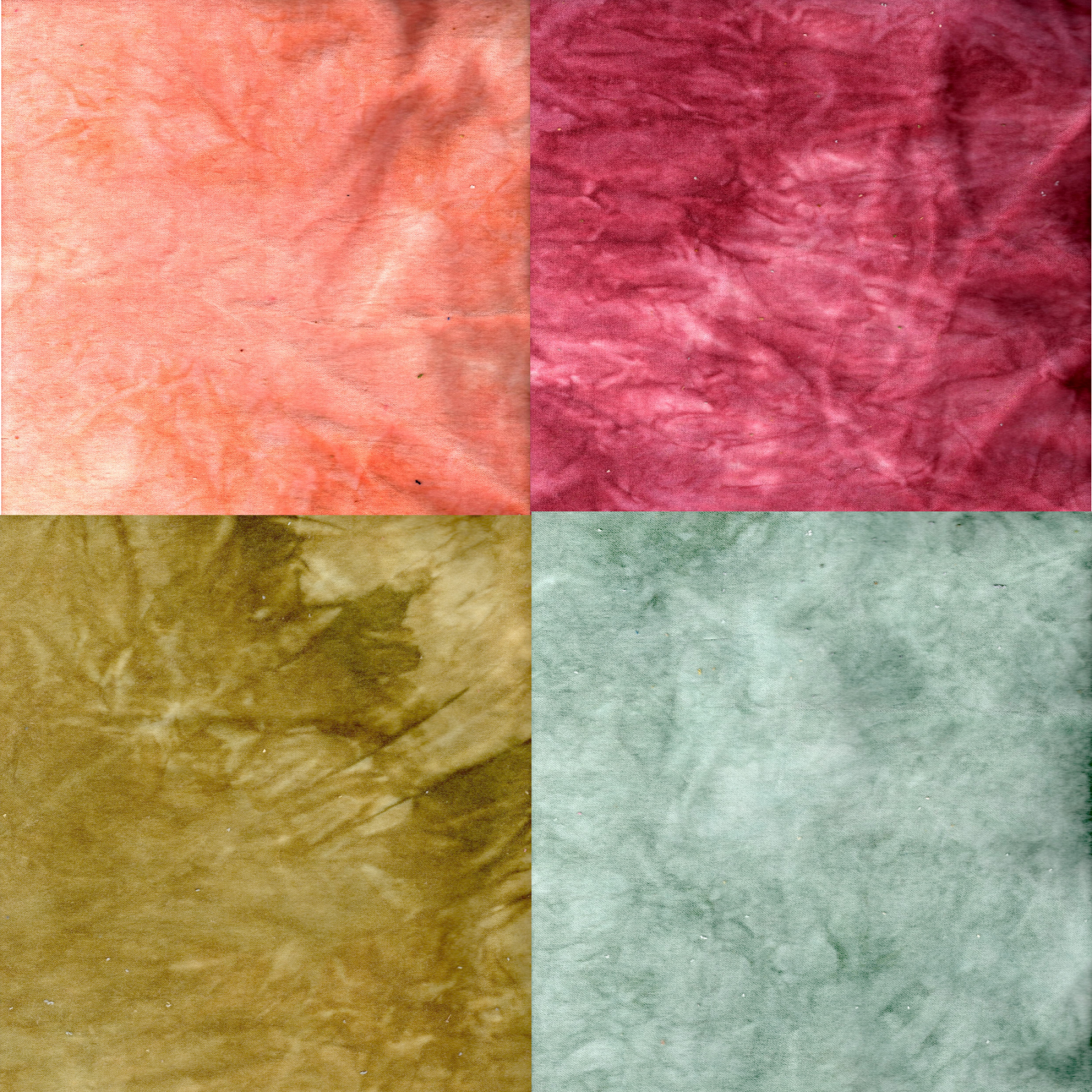 Spring Blossoms 4pc Hand-Dyed Cotton Velveteen