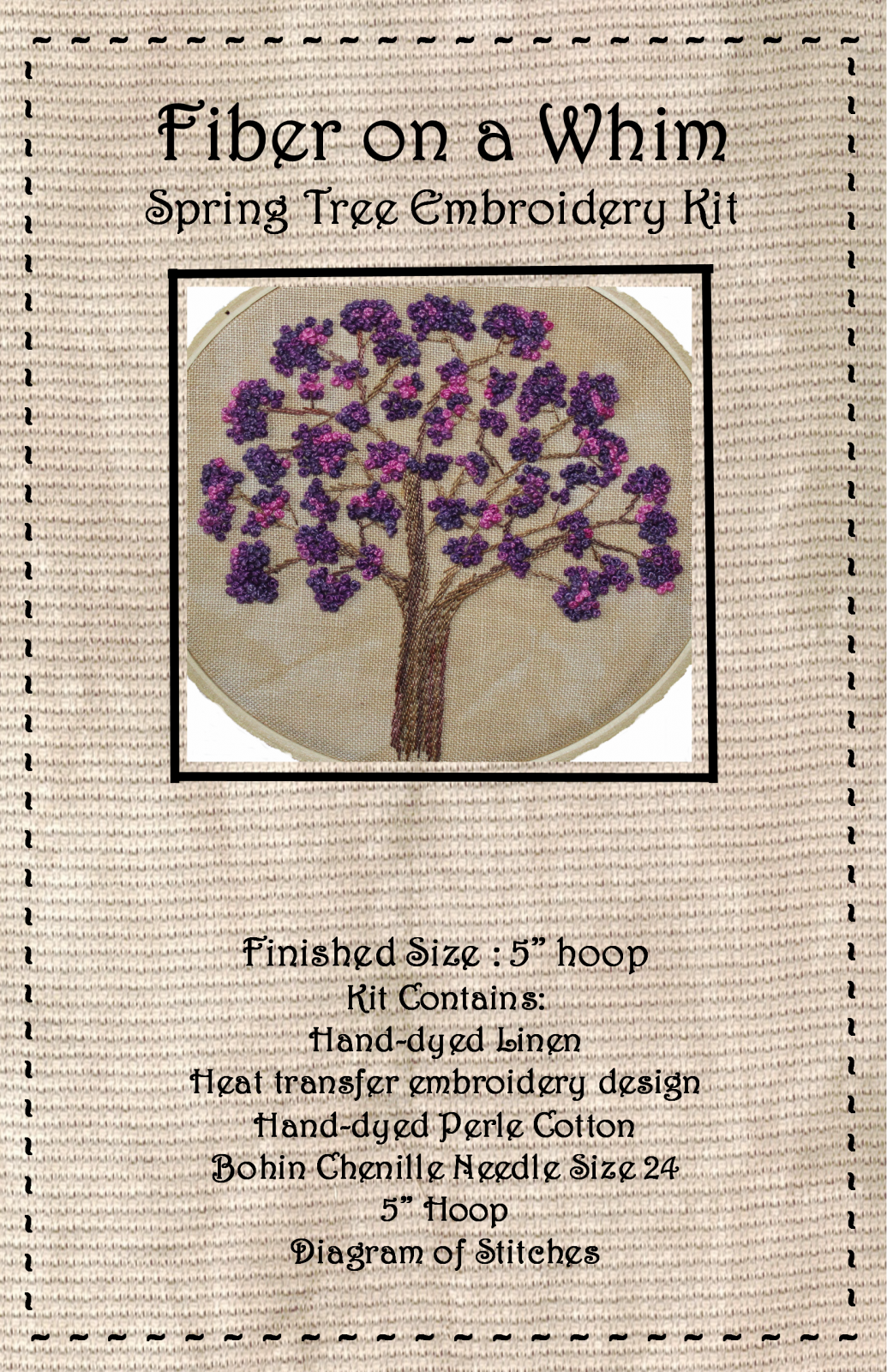 Spring Tree Embroidery Kit
