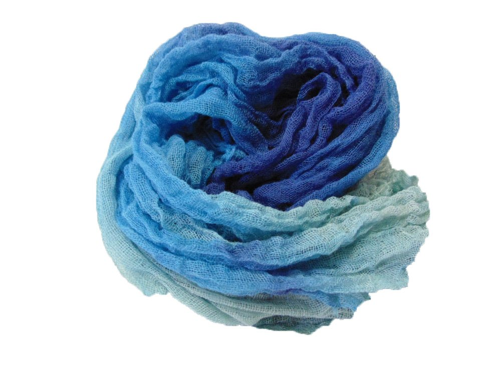 Stormy Seas 1yd Hand-Dyed Cheesecloth