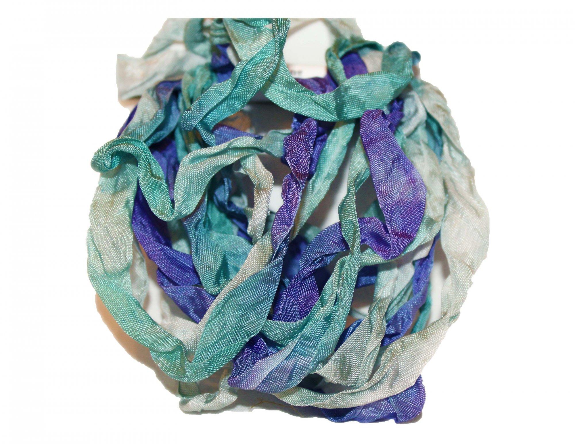 Stormy Seas Hand-Dyed Rayon Seam Binding 5yds