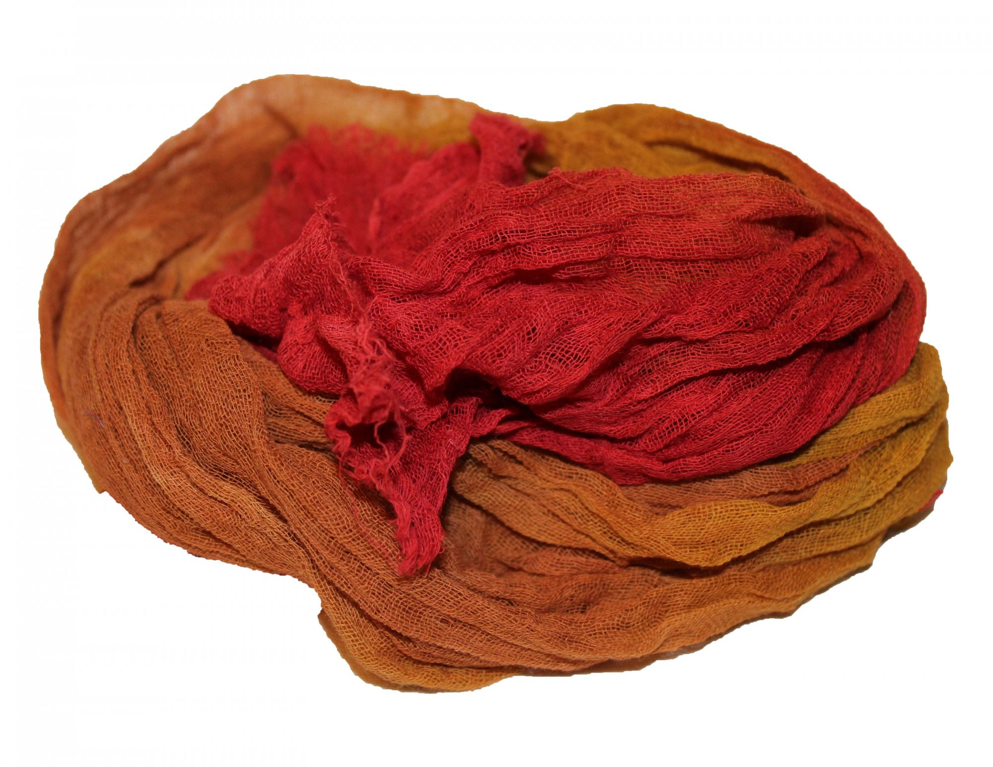 Tuscan Sunset 1yd Hand-Dyed Cheesecloth