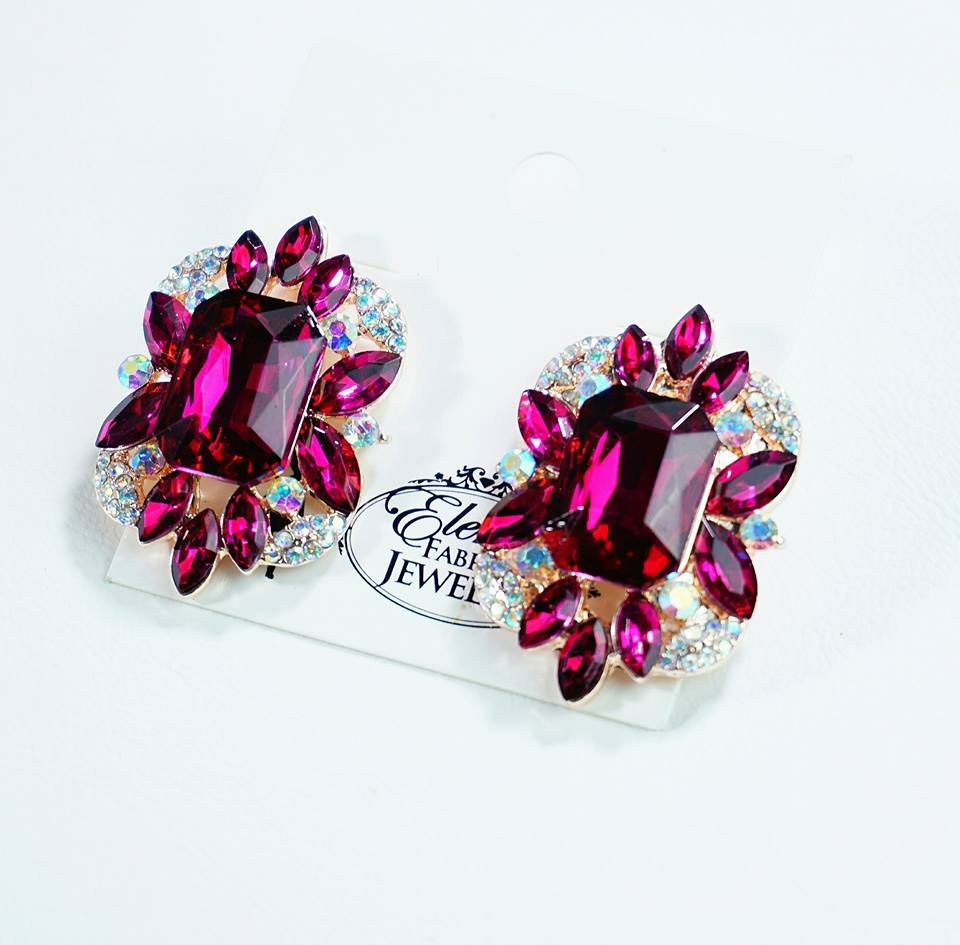 explosion range earrings fuschia efe calyx