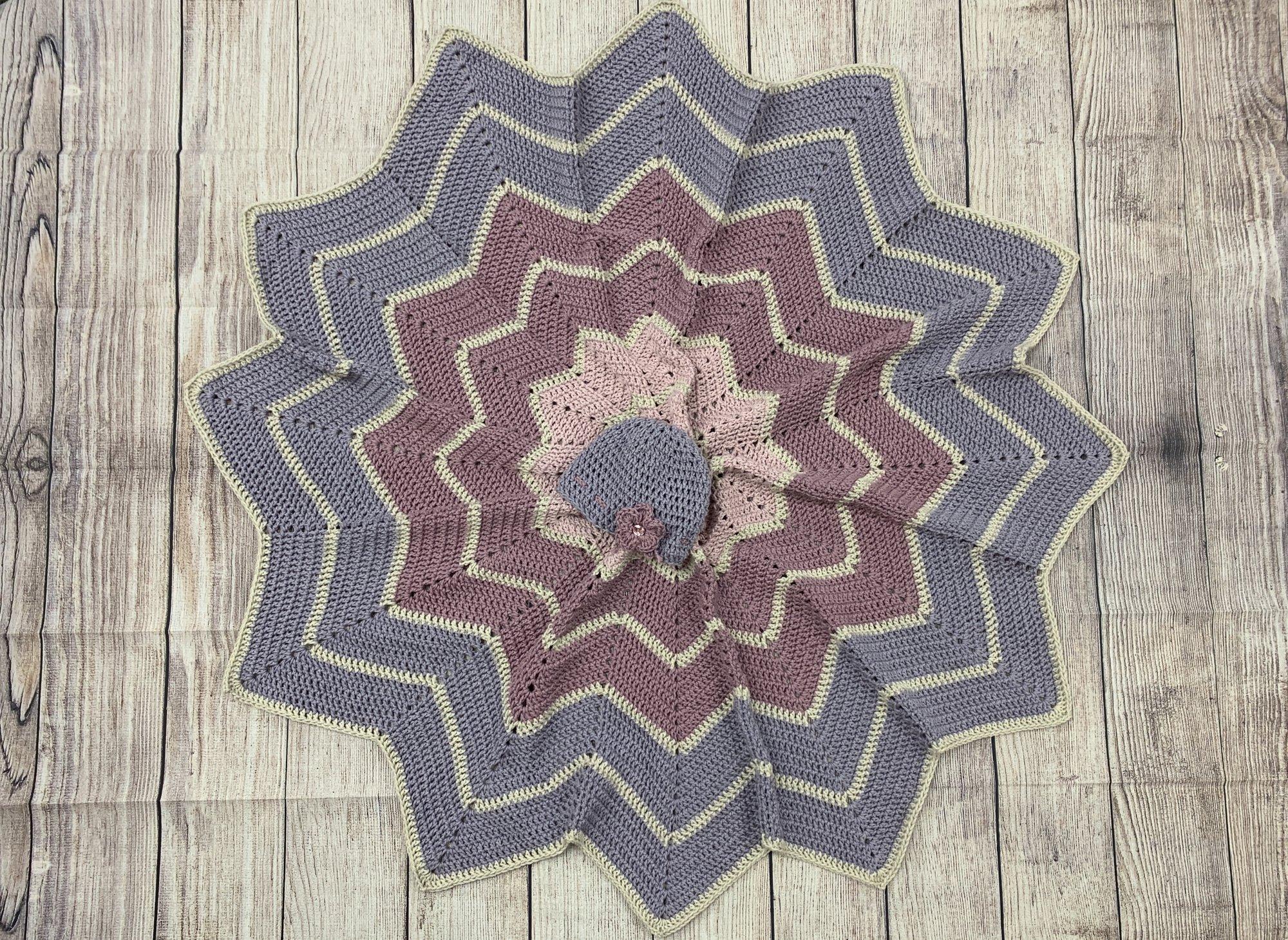 Rainbow Ripple Crochet Baby Blanket Kit