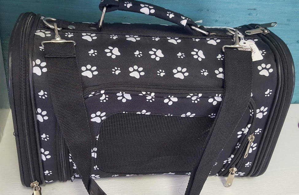 Black and White Paws Pet Carrier