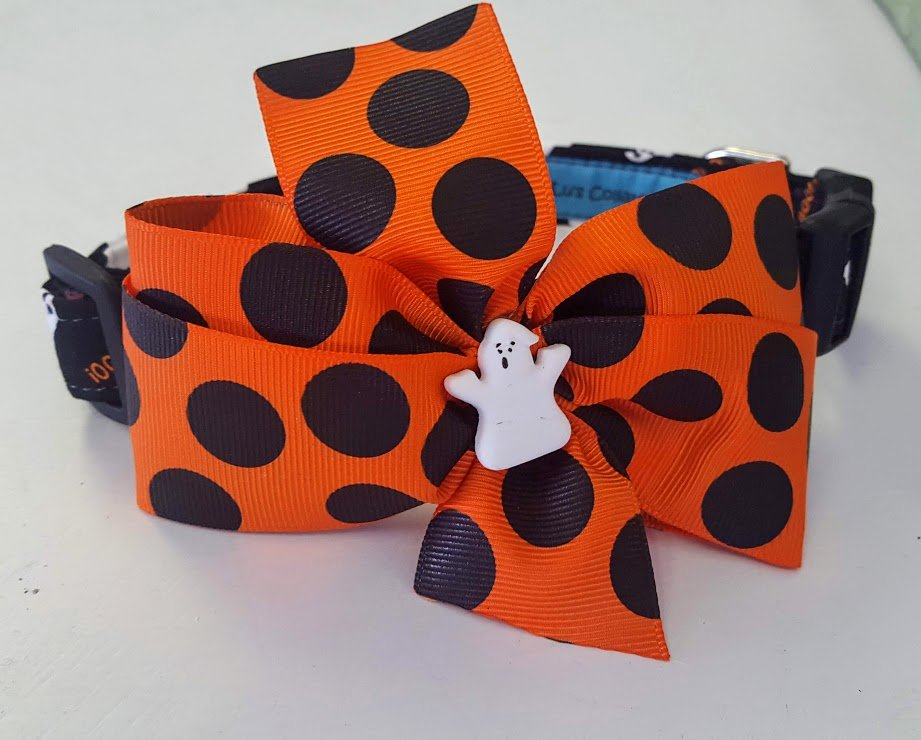 Boo Y'all Halloween Dog Collar with Bow