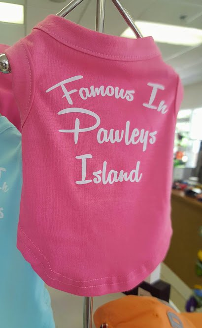 Famous in Pawleys Island Pink Dog T-Shirt