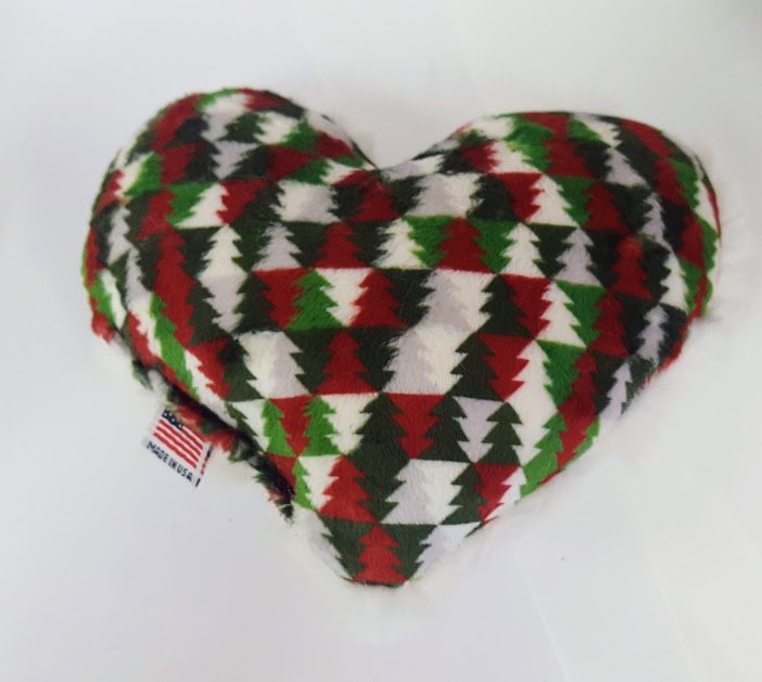 Christmas Trees Heart Dog Toy