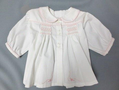 Smocked Feather Stitch Baby Jacket