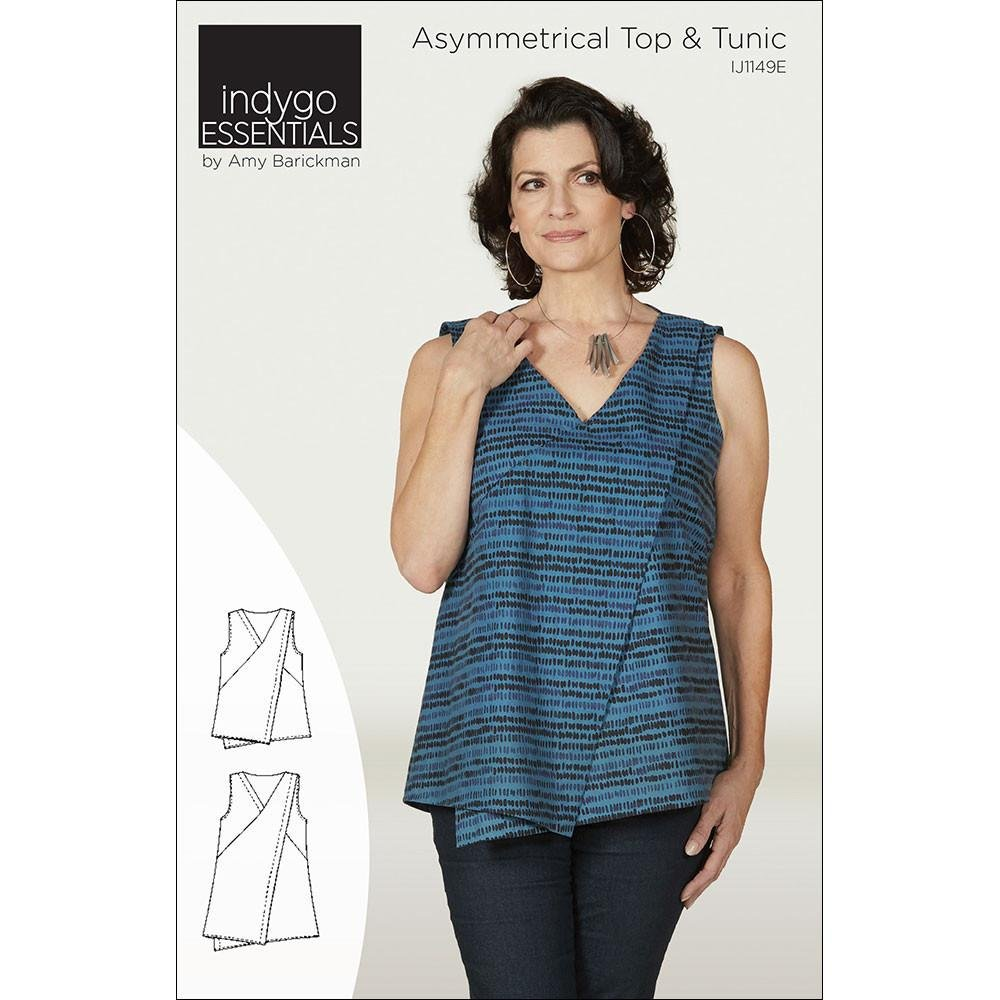 89c9837260 View Large Image · Asymetrical Top   Tunic Pattern- Indygo Essentials