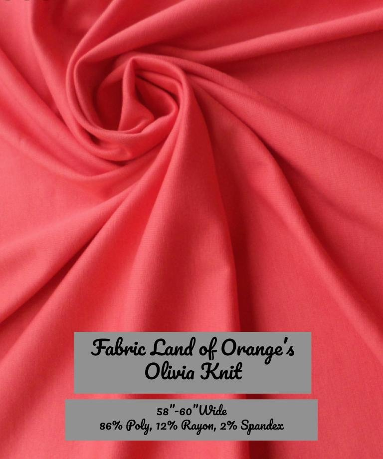 Olivia Knit- Tropical Coral- Fabric Land