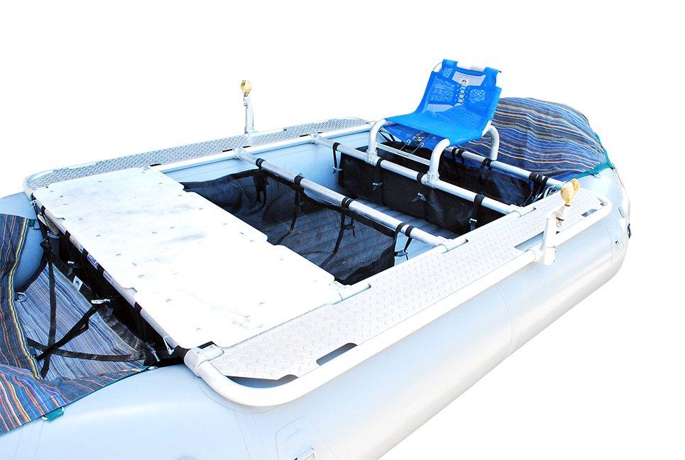 Down River Gunnison XD 4-Bay Diamond Plate Raft Frame 14' Raft