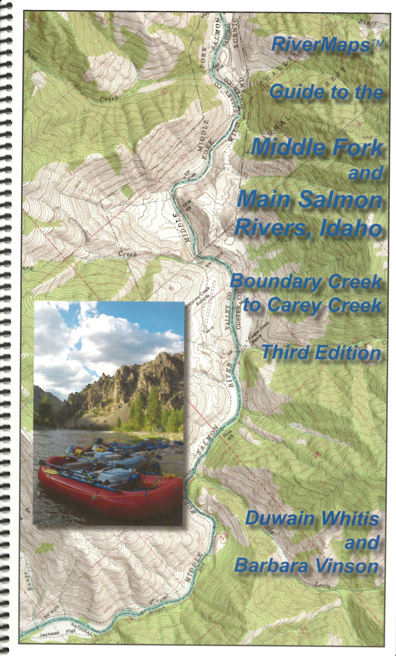 RiverMaps Middle Fork & Main Salmon River 3rd Edition Guide Book