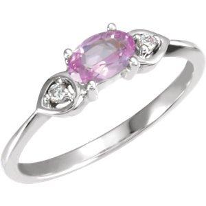 14K-W Lavender Amethyst & Diamond Ring