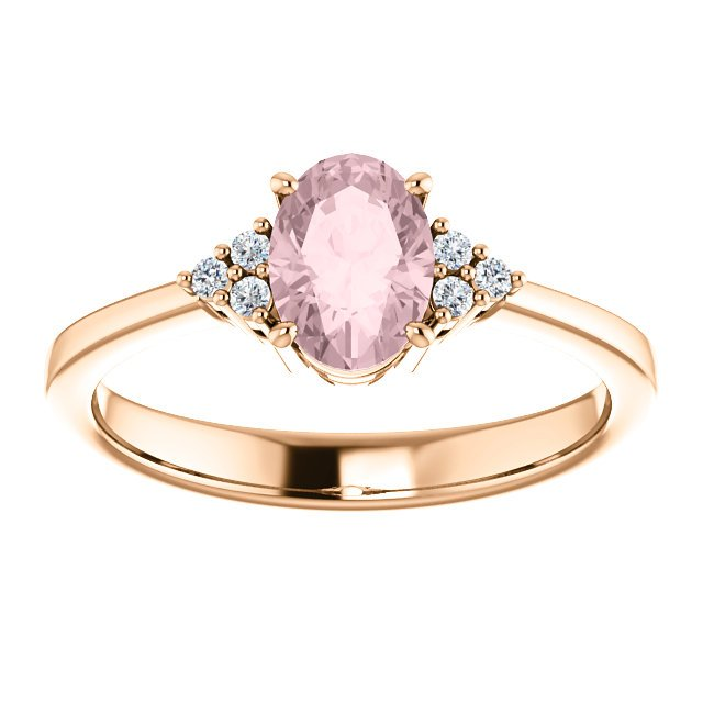 14K-R Oval Purple Spinel & Diamond Ring